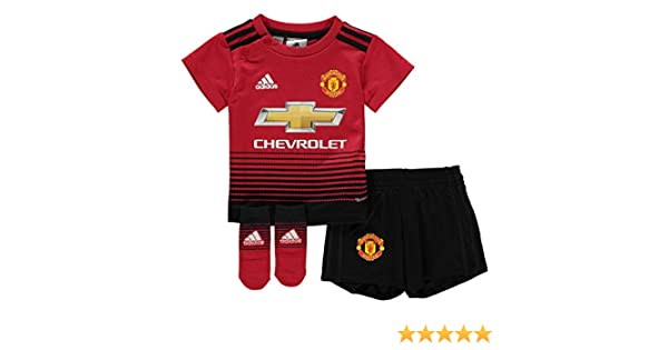 02dc795c4cb Amazon.com : adidas 2018-2019 Man Utd Home Little Boys Mini Kit : Sports &  Outdoors
