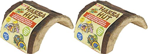 Habba Hut for Terrariums [Set of 2] Size: Small (3.5''L x 4.5''W x 2.5''H) by Zoo Med