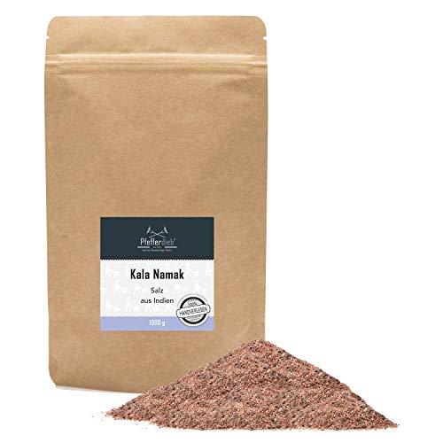 Kala Namak Steinsalz aus Indien | naturbelassenes Gourmetsalz, Schwarzsalz, 1kg - Pfefferdieb®