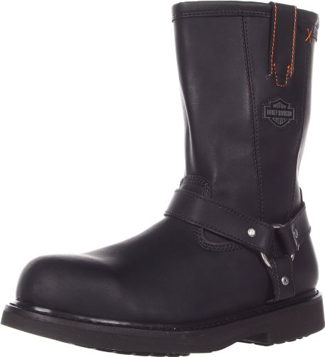 Harley-Davidson Men's Bill Steel Toe Harness Motorcycle Boot, Black, 8.5 M US