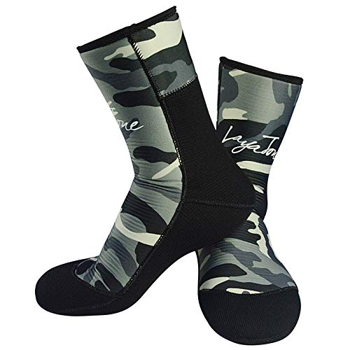 Layatone Diving Socks Adults 9mm Neoprene Socks Boots Surfing Swimming Beach Water Wetsuit Socks Boots Non-Silp Spearfishing Boots Shoes Socks Men Women