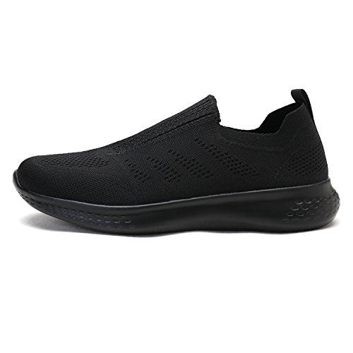 Dream Pairs Mens 171114-m Sneakers Di Moda Traspiranti Leggere Scarpe Da Passeggio Tutte Nere