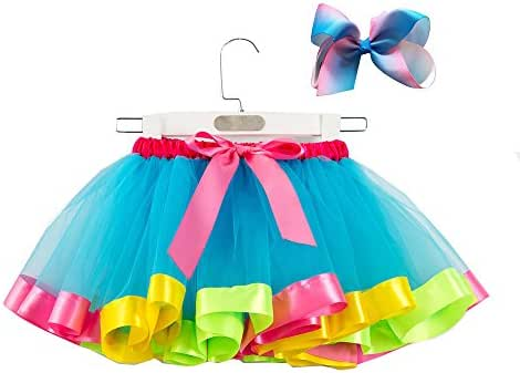 Shimigy Girls Kids Cute Tutu Party Dance Ballet Toddler Baby Costume Skirt+Bow Hairpin Set