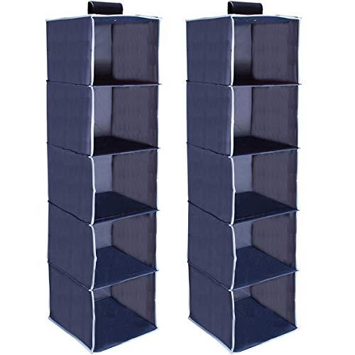 Best hanging shelf closet organizer blue