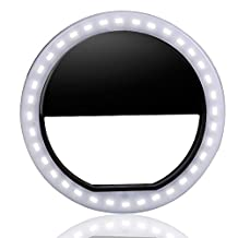 ZYOU Selfie Ring Light, 36 Fill LED for Cellphone Camera Enhancing Dimmable Supplementary for iPhones and Android Smart Phones Black