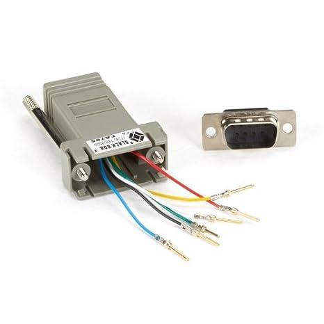 amazon com: black box network services mmj modular adapter kits db9 to mmj  ma: electronics