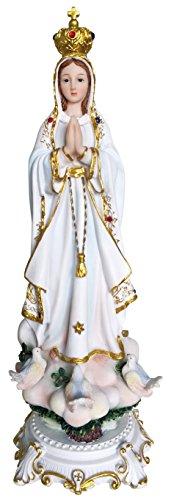 Nueva llegada Nuevo estilo Nuestra Señora de Fátima Estatua Católica Vírgenes Virgen Santa Fátima Estatua (33cm)
