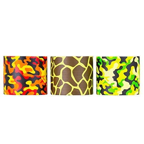 Cinta adhesiva de diseño de 48 mm x 16 pies – Pack de manualidades de artes impresas extra fuertes para niños – por...