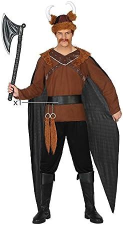 Atosa-38883 Disfraz Vikingo, Color marrón, M-L (38883): Amazon.es ...