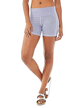Alternative Womens Pull Up Shorts X-Small Purple Jewel Stripe