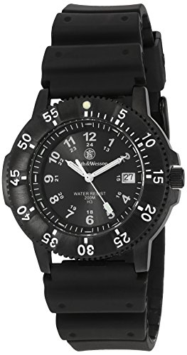 Smith & Wesson Men's SWW-450-BLK Sport Swiss Tritium H3 Black Dial Black Band Watch