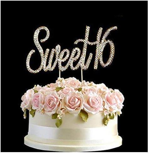 Brilliant Rhinestone Crystal Birthday Anniversary Cake Topper Number Pick Funny Birthday Cards Online Kookostrdamsfinfo