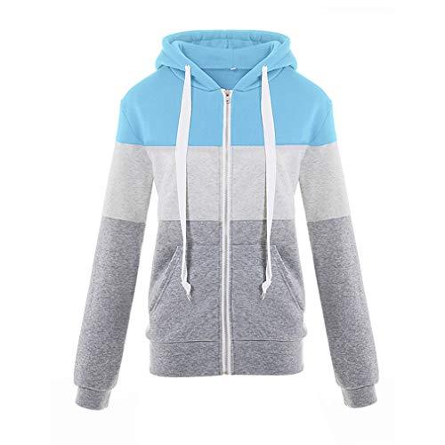 Warm Casual grigio Juleya Cardigan Capispalla Basic Ladies Giacca Cappotti Zipper Blu Giacche Lady Donna Iqa8qF