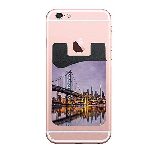 Cellcardphone Ben Franklin Bridge and Philadelphia Skyline Under Sunsets Reflections on Water Image Premium Cell Phone Card Holder Sticker Firmly Mobile Cell Phones 2 PCS