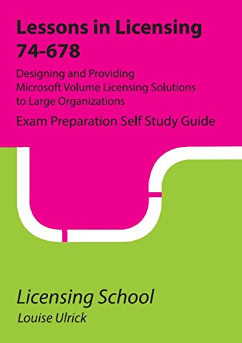 Price comparison product image Microsoft 74-678: Exam Preparation Guide: Lessons in Licensing