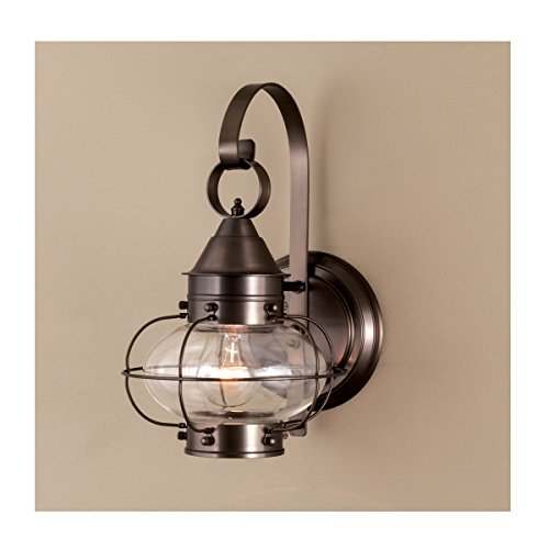 Cheap Norwell Lighting 1323 Cottage Onion – One Light Small Wall Mount (Bronze)