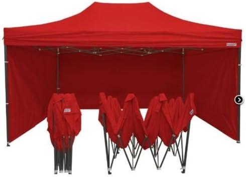 Carpa para cenador para jardín, 3 x 6 m, impermeable, roja ...