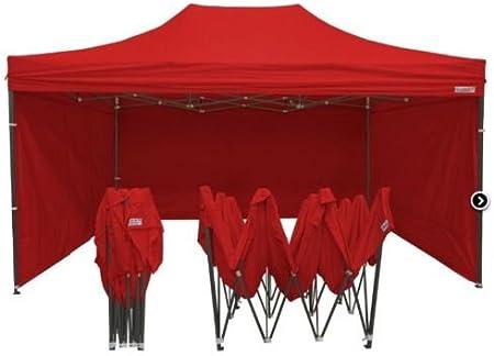 Carpa para cenador para jardín, 3 x 6 m, impermeable, roja, Pérgola plegable, paredes para ferias: Amazon.es: Hogar