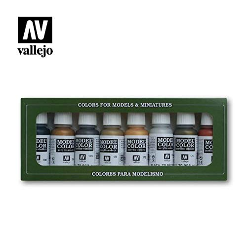 Vallejo Metallic Colors, 17ml (Set of 8)