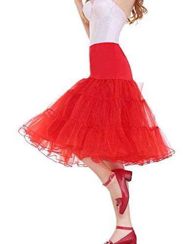 Vianla Women's 50s Vintage Rockabilly Petticoat,26
