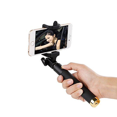 pax selfie stick built in bluetooth remote control extendable monopod for iphone 7 6s 6. Black Bedroom Furniture Sets. Home Design Ideas