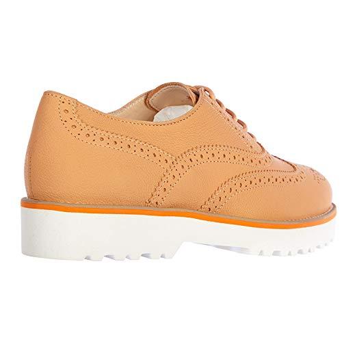 Cordones naranjan Piel Mujer Route h259 Brogue Clásico Zapatos en Hogan de wtPH6