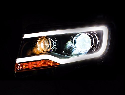 GOWE Car Styling for JEEP Compass 2011-2015 LED Headlight for Compass Head Lamp LED Daytime Running Light LED DRL Bi-Xenon HID Color Temperature:4300K;Wattage:55K 2