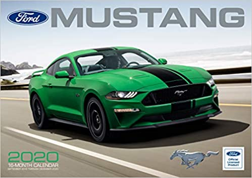 4 Month Calendar 2020 September-December Ford Mustang 2020: 16 Month Calendar Includes September 2019