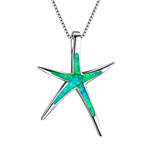 Women Charm Star Fish Cute Pendant Sweater Copper Necklace Jewelry ()
