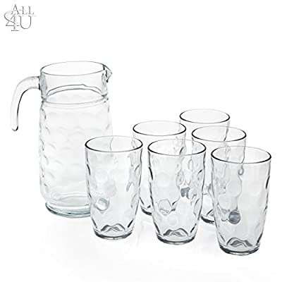 All 4 You Eclipse 7-Piece Glass And Pitcher Set