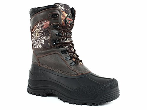 Pro Line Men's Winchester Big Mike Waterproof, Insulated Camouflage 9 Inch Hunting Boots (10, Brown Mossy Oak Break Up)