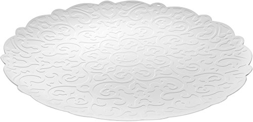 Alessi MW07 W Dressed Round Tray, white (Resin Relief)