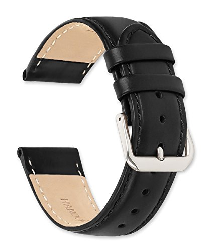 deBeer Stage Coach Leather Watch Strap - 20mm - Black