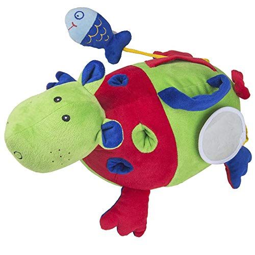 Hipopótamo Atividades - Antialérgico - Colorido - 35 Cm - Cas Brinquedos