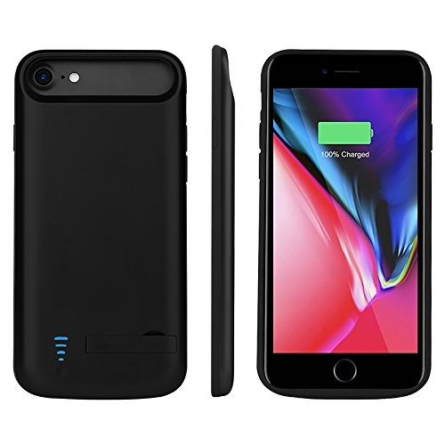 RUNSY iPhone 8 / 7 / 6S / 6 Battery Case, 5500mAh Rechargeable Extended Battery Charging Case, External Battery Charger Case, Backup Power Bank Case, Support Lightning Wired Headphones (4.7 inch)