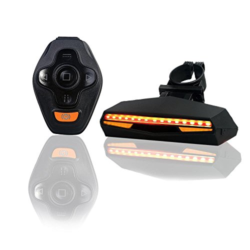 Cheap Pawaca USB Rechargeable LED Bike Tail Light Wireless Remote Control Waterproof Ultra Bright Bicycle Rear Light Warning Light for Cycling Safety