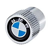 """BMW """"Genuine Factory OEM"""" Roundel Logo valve stem caps (set of 4). NOTE: Country of Origin - U.S.A. Unlike cheap, off-shore, imitations, that can/may interfere with the tire pressure sensors, these are """"Genuine BMW of North America"""" Roundel Logo caps. NOT a copycat aftermarket """"OEM style"""" item."""