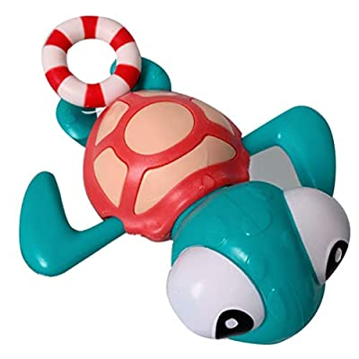 TOYANDONA Baby Bath Toys Pull String Turtle Figure Fun Educational Bath Toy Pool Bath Time for Kids Toddler Party Favors: Toys & Games