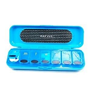 Med Sun 7 Day Pill Organizer Protective Case Snaps Closed to Secure Pills - Colors Vary