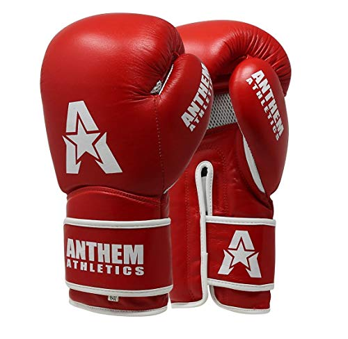 Anthem Athletics STORMBRINGER II Leather Boxing Gloves - Muay Thai, Kickboxing, Striking - Prime Red - 14 oz.