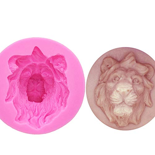 Lions Head Silicone Mould Cake Decorating Silicone Mold for Fondant Candy Crafts Jewelry PMC Resin Clay