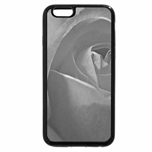 iPhone 6S Case, iPhone 6 Case (Black & White) - Pale yellow rose