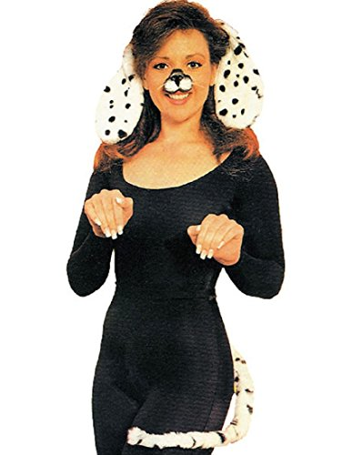 [Forum Novelties Women's Dalmatian Ears and Tail Set, White/Black, One Size] (Dog Ears Costumes)
