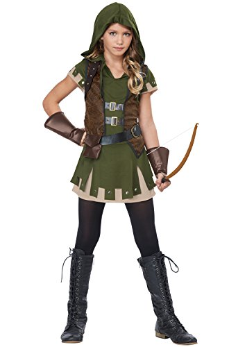 Thief Game Costume (California Costumes Miss Robin Hood Costume, Olive/Brown,)