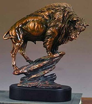 - Buffalo Large Statue Bronze Finish