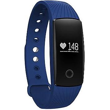 LISABOBO @ bluetooth reloj inteligente con monitor de ritmo cardíaco podómetro función de cámara remota pulsera resistente al agua , orange: Amazon.es: ...