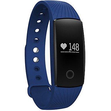 TR bluetooth reloj inteligente con monitor de ritmo cardíaco podómetro función de cámara remota pulsera resistente al agua , black: Amazon.es: Electrónica