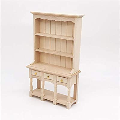 NszzJixo9 Artificial 1/12 Miniature Dollhouse Furniture Bookcase, Living Room Kids Pretend Play Toy,1 x Miniature Bookcase: Toys & Games