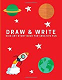 Draw and Write: Kids Art Story Book For Creative Fun, Ketchup Red (Creative Writing for Kids)