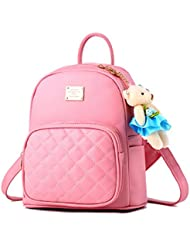 BAG WIZARD Leather Backpack Purse Satchel School Bags Casual Travel Daypacks for Girl